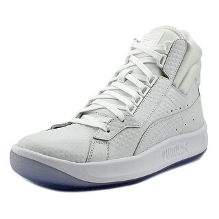 Puma Challenge Embossed Men Round Toe Leather White Sneakers