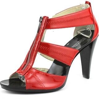 Michael Michael Kors Berkley T Strap Open Toe Patent Leather Sandals