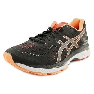Asics GEL-Kayano 23 Men  Round Toe Synthetic Black Running Shoe