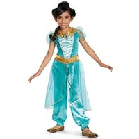 Disguise Jasmine Deluxe Child Costume - Blue/Gold