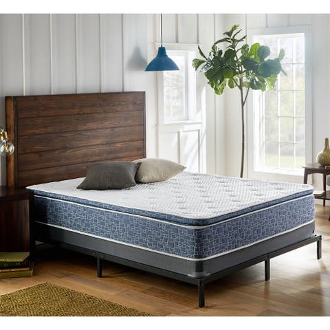 12 Inch Plush Pillow Top Mattress, Memory Foam and Innerspring Support