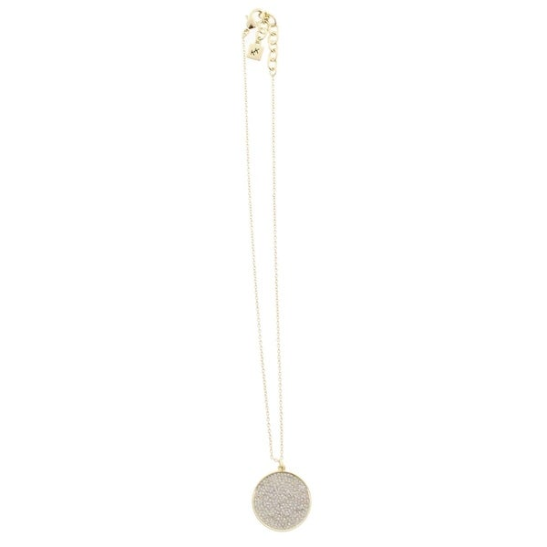 Karen Kane Womens Starry Disc Pendant Necklace Pave Round