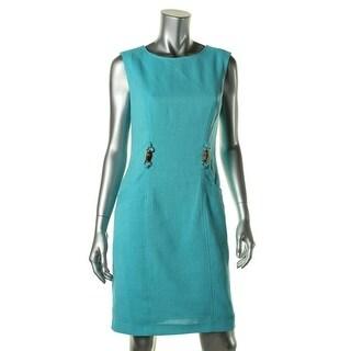 Ellen Tracy Womens Textured Sleeveless Wear to Work Dress - 12