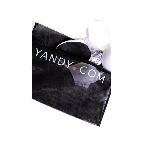 One Size Fits Most Womens Yandy Black Lingerie Bag