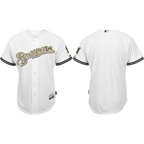 Milwaukee Brewers USMC Men's White Home Team Jersey