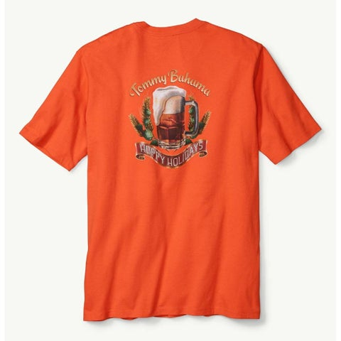 Tommy Bahama Pursuit of Hoppiness Medium Blaze Orange T-Shirt