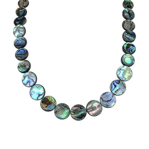 Sterling Silver with Abalone Shell Fashion Necklace