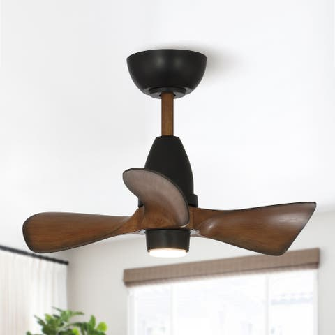 52 in. 3-Blade LED Indoor DC Motor Transitional DC Ceiling Fan