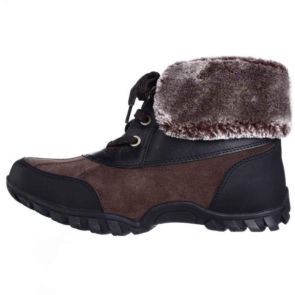 Easy Spirit Womens Nuria Leather Closed Toe Ankle Cold Weather Boots