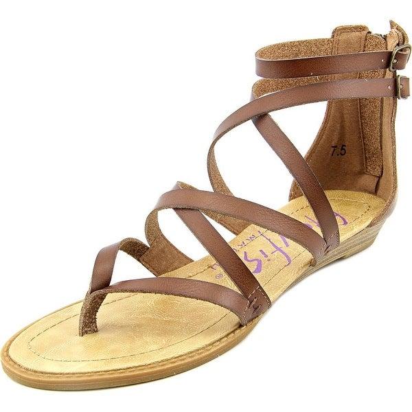 Blowfish Bungalow Women Open Toe Synthetic Brown Gladiator Sandal