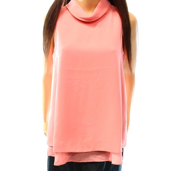 67c338f997f34 Shop Alfani NEW Lobster Bisque Pink Womens Size 12 Cowl-Neck Layered Tank  Top - Free Shipping On Orders Over  45 - Overstock.com - 17785733