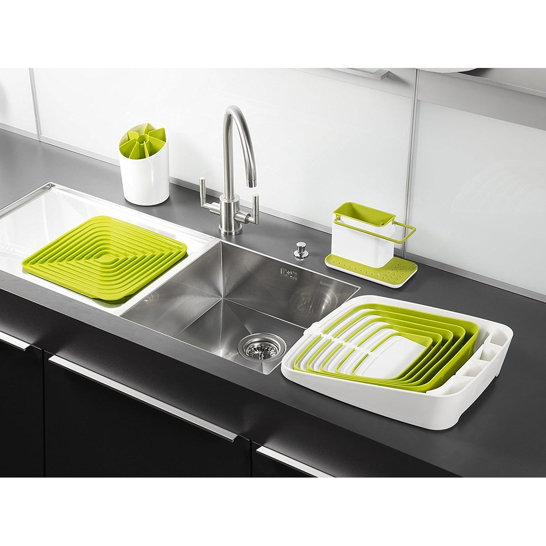 Joseph Joseph Sink Caddy Kitchen Sink Organizer Holder Green White On Sale Overstock 17817375