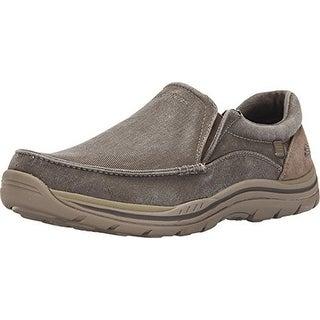 Skechers Usa Men's Expected Avillo Relaxed-Fit Slip-On Loafer,Khaki,7 D Us