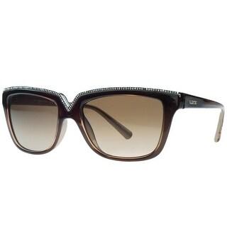 Valentino V646/SR 210 Brown Rectangular Sunglasses