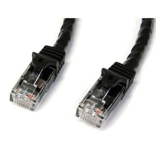 StarTech DM7803B StarTech.com Black Gigabit Snagless RJ45 UTP Cat6 Patch Cable - 100 Feet