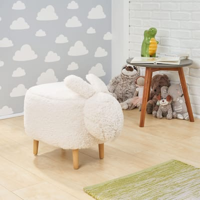 Bajada Fabric Kids' Bunny Ottoman Stool by Christopher Knight Home