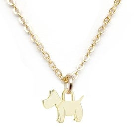 Julieta Jewelry Scottie Dog Charm Necklace