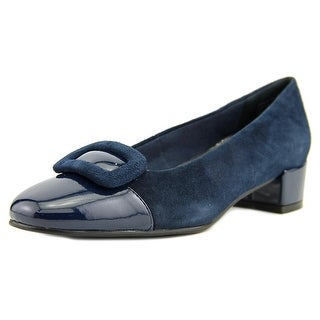 David Tate Retro Women SS Round Toe Suede  Heels