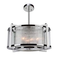 Artcraft Lighting AC10803 Crackled Ice 5 Light Chandelier - Chrome