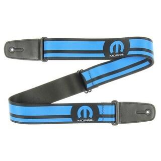 Mopar Guitar Strap - MOPAR Logo Stripe Black/Blue