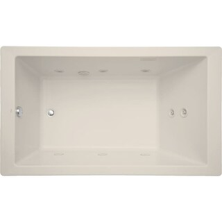 """Mirabelle MIRSKT6036 Sitka 60"""" X 36"""" Acrylic Total Massage Bathtub for Drop In or Undermount Installations with Reversible Pump,"""