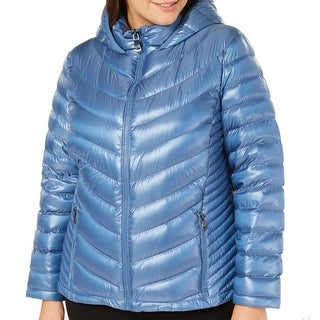 Calvin Klein Women Jacket Plus Hooded Down Puffer Full Zip
