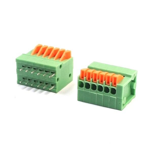 2Pcs 2.54mm Pitch 12Pin DIP Screwless PCB Terminal Block Connector 150V 2A