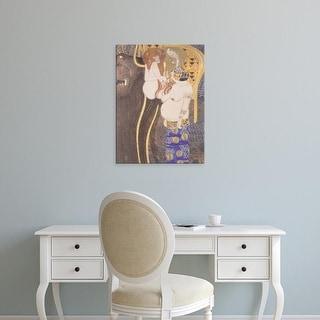 Easy Art Prints Gustav Klimt's 'The Hostile Forces' Premium Canvas Art