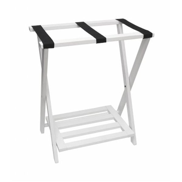 Lipper International Right Height Luggage Rack With Shoe Free Shipping Today 24875046