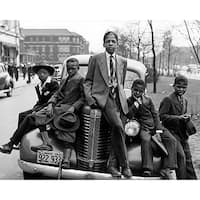 ''Negro Boys, Easter Morning, Chicago, 1941'' by McMahan Photo Archive African American Art Print (8 x 10 in.)