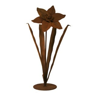 Patina Products S672 Small Daffodil Garden Sculpture - Amber