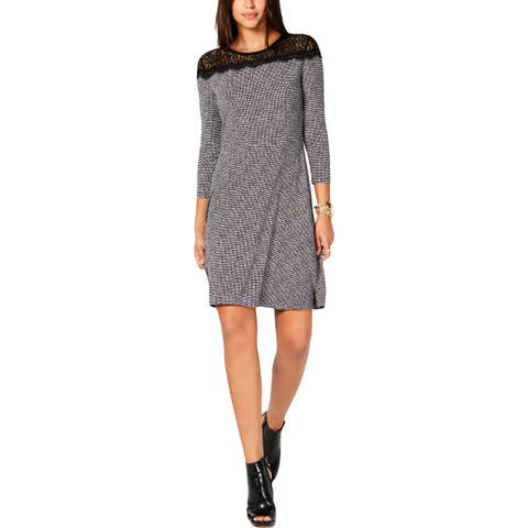 MICHAEL Michael Kors Womens Wear to Work Dress Lace Mini