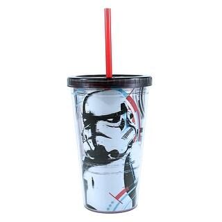 Storm Trooper 16 oz Plastic Cold Cup w/ Ice Cubes