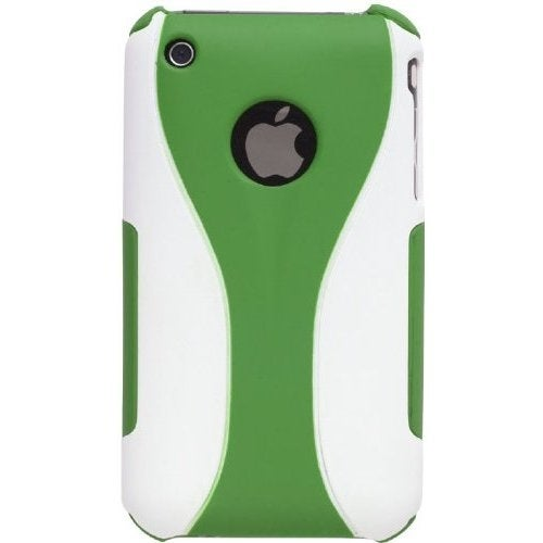 Wireless Solutions Duo Snap-On Case for iPhone 3G, 3GS (Green/White)
