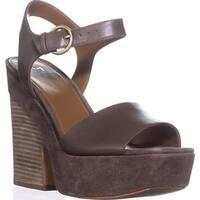 Marc Fisher Perla Platform Sandals, Medium Green