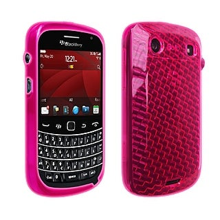 OEM Verizon High Gloss Silicone Cover Case for BlackBerry Bold 9900/9930 (Pink)