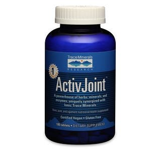Trace Minerals Research ActivJoint - 180 Tablet - Bone, Joint, Ligament Support - Herbs & Minerals - ConcenTrace - Vegan|https://ak1.ostkcdn.com/images/products/is/images/direct/935a7d0777a239ad34a0a7425565e14b9cd4c6b9/Trace-Minerals-Research-ActivJoint---180-Tablet---Bone%2C-Joint%2C-Ligament-Support---Herbs-%26-Minerals---ConcenTrace---Vegan.jpg?impolicy=medium