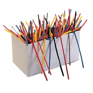 Creativity Street Standard Chenille Stems, 1/8 x 6 Inches, Various Colors Pack of 100