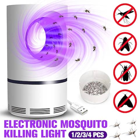 Electronic Mosquito Killing Light USB Rechargeable Mosquito Insect Killer LED Light Non-toxic Pest Catcher Trap Pest Repellent