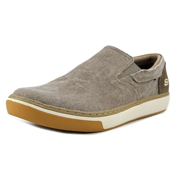 d6db9b8478df Shop Skechers Palen-Tiago Men Round Toe Canvas Gray Loafer - Free Shipping  Today - Overstock - 16655008