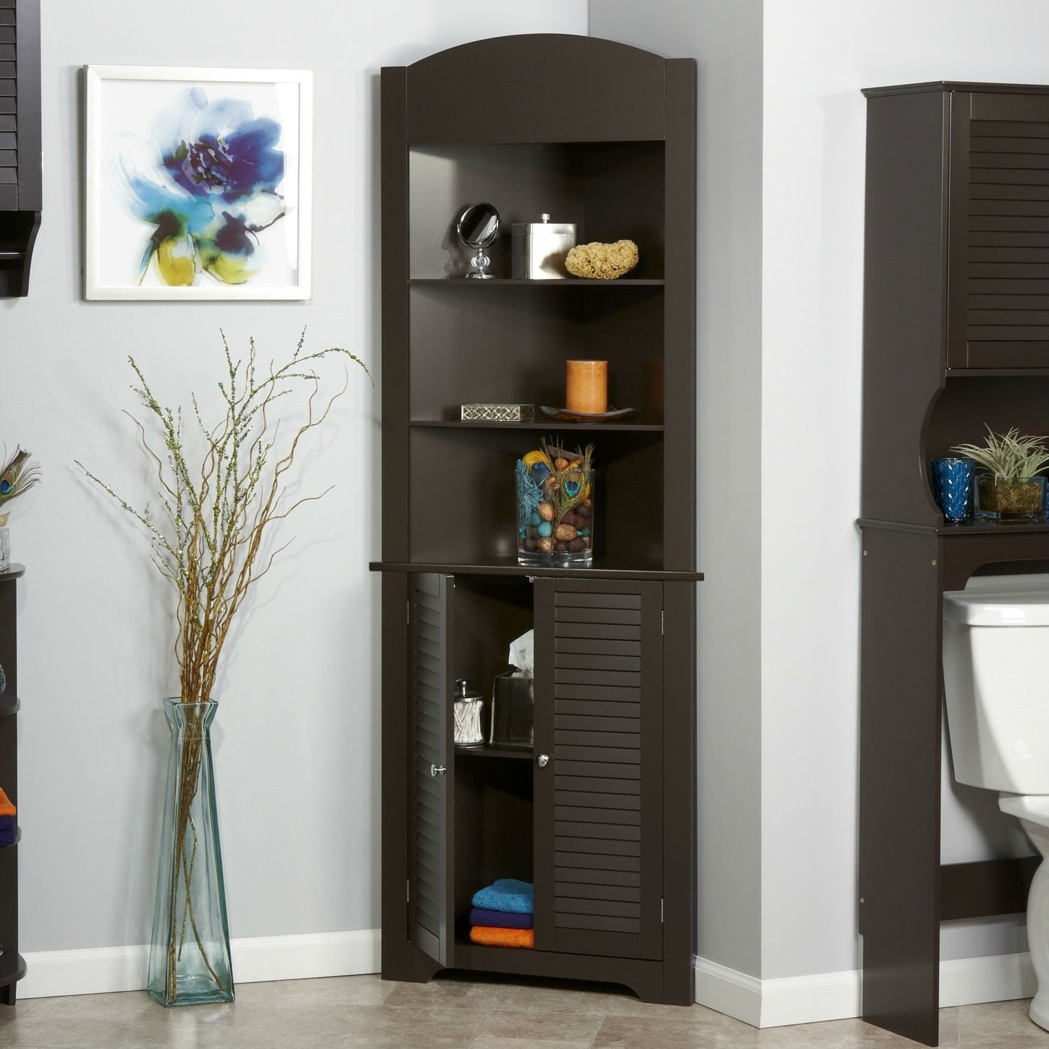 Tower Corner Towel Storage Cabinet