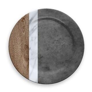 Mixed Material Marin, Carrara & Stone Charger, Set of 6
