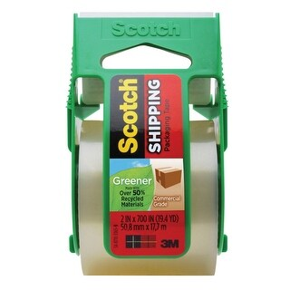 Scotch Greener Commercial Grade Shipping Tape, 2 Inches x 19.40 Yards, Clear