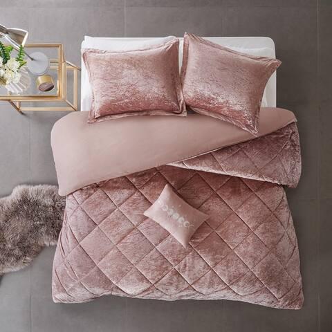 Intelligent Design Isabel Velvet Duvet Cover Set