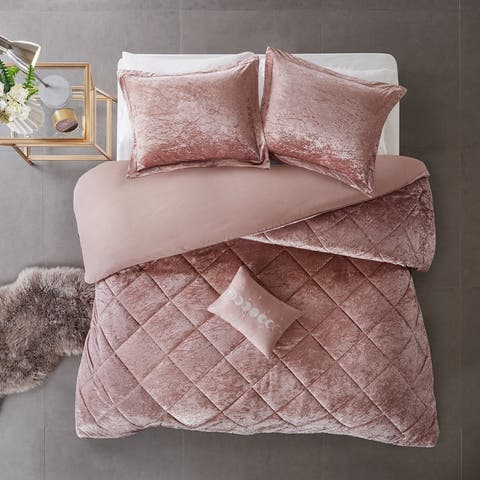 Isabel Velvet Duvet Cover Set by Intelligent Design