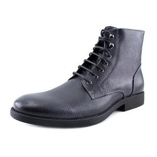 Robert Wayne Elbio Men  Round Toe Leather Black Boot