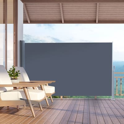 """118"""" x 63"""" Outdoor Patio Single Side Awning Privacy Screen Pull Out Shed"""