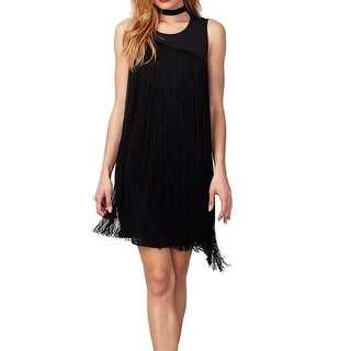 Rachel Rachel Roy NEW Black Fringe Women's Size XS Sheath Dress