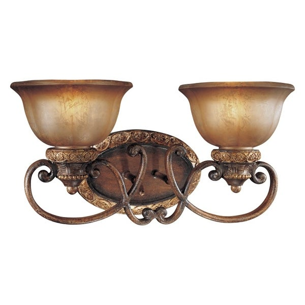 Minka Lavery ML 6352 2 Light Bathroom Vanity Light from the Illuminati Collection - illuminati bronze