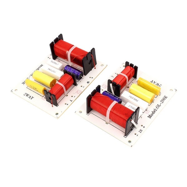 Unique Bargains 180W Crossover Filters Frequency Divider for 2-Way Squawk Box System Audio 2 Pcs